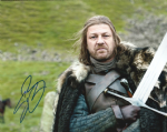 Sean Bean, Game of Thrones,  10x 8 picture. This is an original autograph and not a copy. 10324